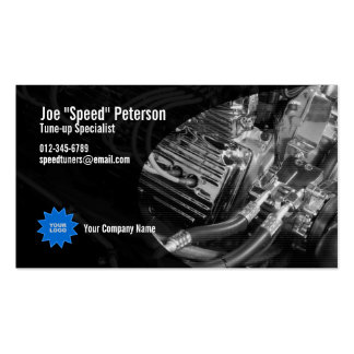 Tarjeta azul de la empresa de servicios del coche