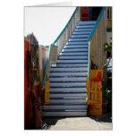 Tarjeta azul de la escalera