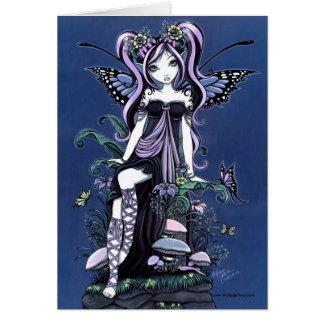 Tarjeta azul de la hada de la seta de Cassandra