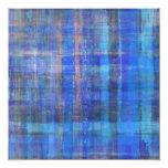 Tarjeta azul de la invitación del arte abstracto