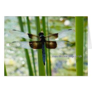 Tarjeta azul de la libélula
