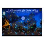 Tarjeta azul de la noche de Froggie por el deprise