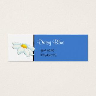 Tarjeta azul de la pequeña empresa de la margarita tarjetas de visita mini