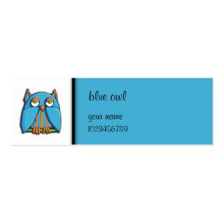 Tarjeta azul de la pequeña empresa del búho azul tarjetas de visita