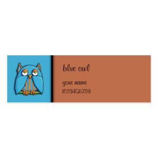 Tarjeta azul de la pequeña empresa del marrón azul plantillas de tarjetas de visita