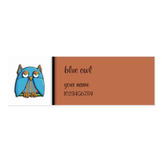 Tarjeta azul de la pequeña empresa del marrón del  tarjeta de negocio