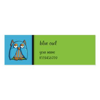 Tarjeta azul de la pequeña empresa del verde azul  tarjetas de visita