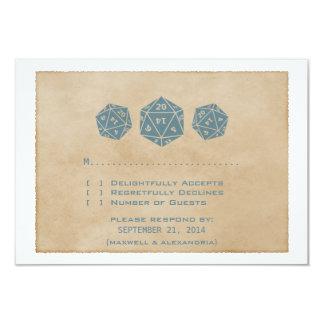 Tarjeta azul de la respuesta del videojugador de invitación 8,9 x 12,7 cm