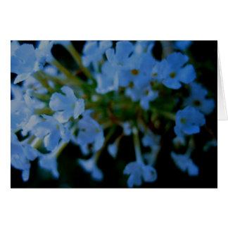 Tarjeta azul de las flores