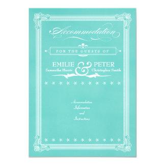 """Tarjeta azul de los alojamientos del estilo del invitación 4.5"""" x 6.25"""""""