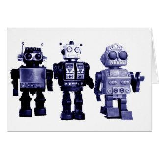 tarjeta azul de los robots