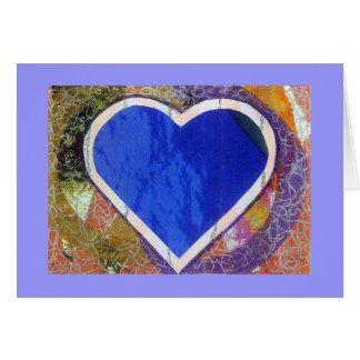 Tarjeta azul del corazón