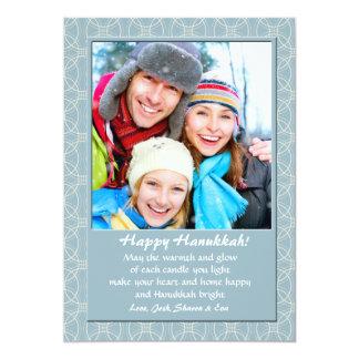 Tarjeta azul del día de fiesta de la foto de los invitación 12,7 x 17,8 cm