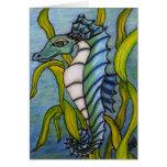 Tarjeta azul del dragón del mar