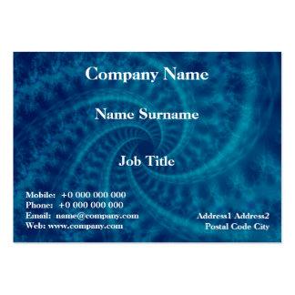 Tarjeta azul del espiral de la estela de vapor plantillas de tarjetas de visita