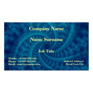 Tarjeta azul del espiral de la estela de vapor plantilla de tarjeta personal