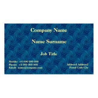 Tarjeta azul del espiral de la estela de vapor tarjetas personales