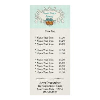 Tarjeta azul del estante de las magdalenas del mar diseño de tarjeta publicitaria