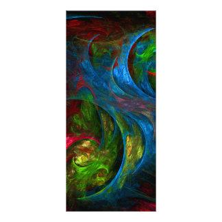 Tarjeta azul del estante del arte abstracto de la lonas personalizadas