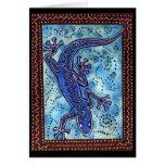 Tarjeta azul del Gecko