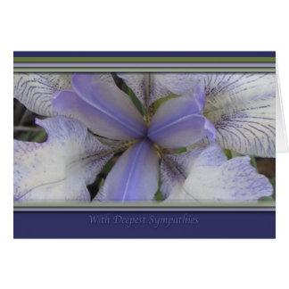Tarjeta azul del iris de las condolencias