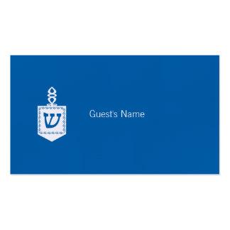Tarjeta azul del lugar de Dreidel del adorno de Tarjetas De Visita