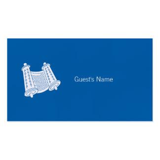 Tarjeta azul del lugar de Torah del adorno de Tarjetas De Visita