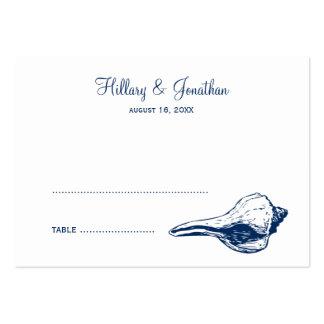 Tarjeta azul del lugar del nombre del acompañamien tarjeta de visita