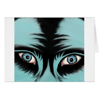 Tarjeta azul del monstruo