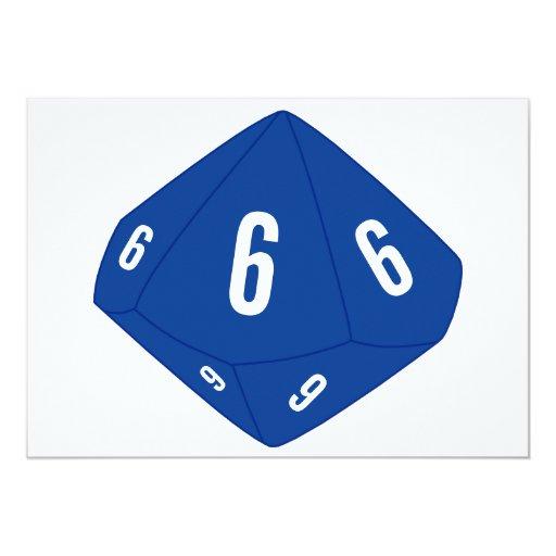 Tarjeta azul del número de la tabla D10 Comunicados Personalizados