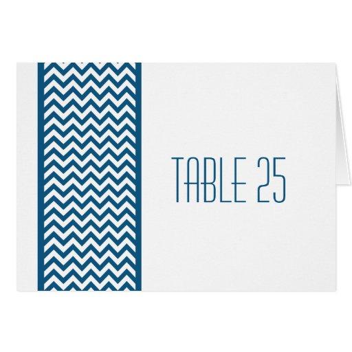 Tarjeta azul del número de la tabla de la frontera