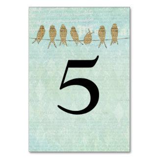 Tarjeta azul del número de la tabla de la música