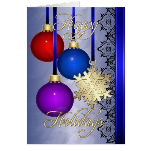 Tarjeta azul del oro de la hoja de las decoracione
