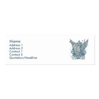 Tarjeta azul del perfil de Libertas Tarjetas De Visita Mini