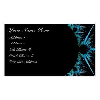 Tarjeta azul del perfil del fractal tarjetas de visita