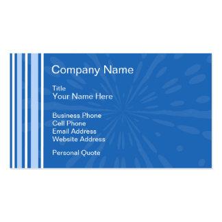 Tarjeta azul del perfil del negocio de Deco Tarjetas De Visita