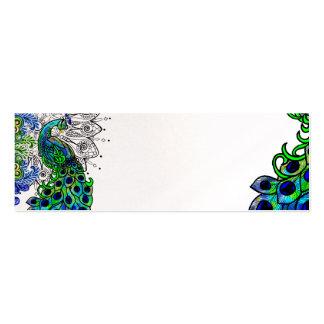 Tarjeta azul del perfil del pavo real plantillas de tarjetas de visita