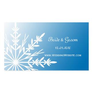 Tarjeta azul del perfil del Web site del boda del  Tarjetas De Visita