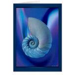 Tarjeta azul del Seashell