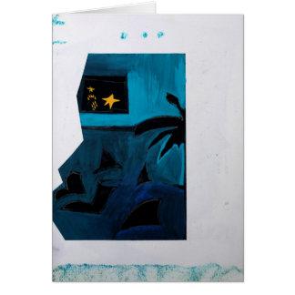 Tarjeta azul del sitio 2 del libro del artista de