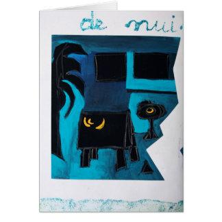 Tarjeta azul del sitio del libro del artista de
