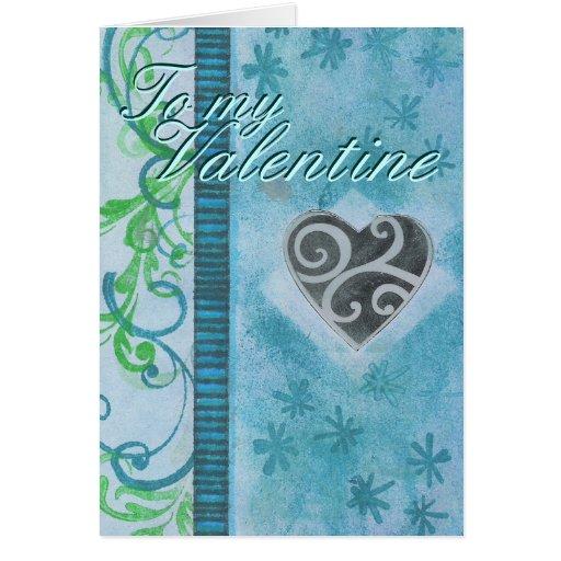 Tarjeta azul del V-día