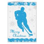 Tarjeta azul del varón de los copos de nieve del h