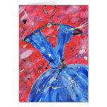 Tarjeta azul del vestido
