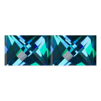 Tarjeta azul del Web site de la gema Tarjeta De Visita