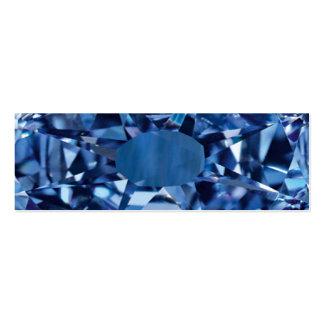 Tarjeta azul del Web site de la gema Tarjetas De Visita