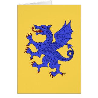 Tarjeta (azul) desenfrenada del dragón