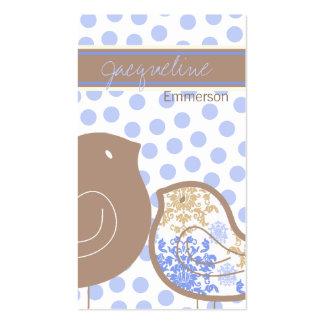 tarjeta azul dulce del perfil de los polluelos del tarjeta de visita
