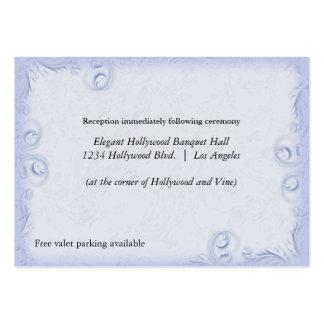 Tarjeta azul elegante de la recepción nupcial de S Tarjeta De Negocio