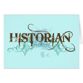 Tarjeta azul fresca del historiador